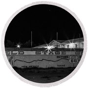 Butterfield Stage Co Steakhouse Round Beach Towel