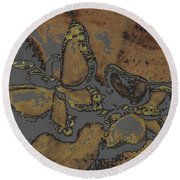 Butterflies 1 Round Beach Towel