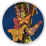 Butterflies On A 2015 Rose Parade Float 15rp047 Round Beach Towel