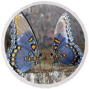 Butterfly 007 Round Beach Towel