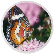 Butterfly 012 Round Beach Towel