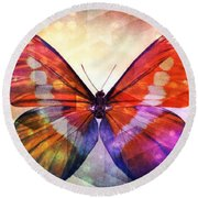 Butterfly 14-1 Round Beach Towel