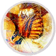 Butterfly 6 Round Beach Towel