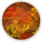 Butterfly Abstract 2 Round Beach Towel