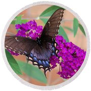Butterfly And Friend Round Beach Towel