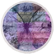Butterfly Art - Ab25a Round Beach Towel