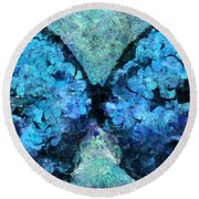 Butterfly Art - D11bl02t1c Round Beach Towel