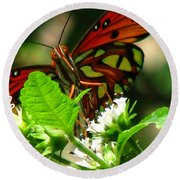 Butterfly Art Round Beach Towel