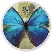 Butterfly Art - S01bfr02 Round Beach Towel by Variance Collections