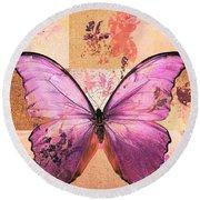 Butterfly Art - Sr51a Round Beach Towel
