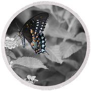 Butterfly Art Wings Together Round Beach Towel