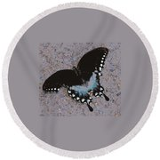 Butterfly At Rest Round Beach Towel