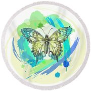Butterfly Circles-jp2377 Round Beach Towel