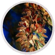 Butterfly Cluster Fractal Round Beach Towel
