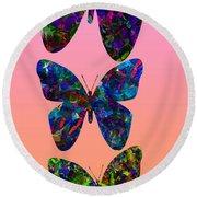 Butterfly Collage IIII Round Beach Towel