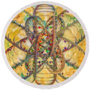 Butterfly Concept Round Beach Towel