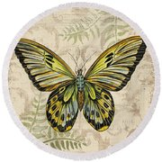 Butterfly Daydreams-a Round Beach Towel