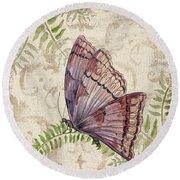 Butterfly Daydreams-b Round Beach Towel