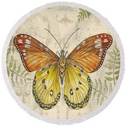 Butterfly Daydreams-c Round Beach Towel