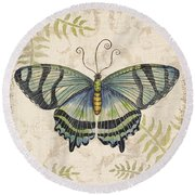 Butterfly Daydreams-d Round Beach Towel