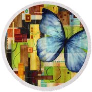 Butterfly Effect Round Beach Towel