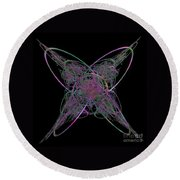 Butterfly Emerging  Round Beach Towel