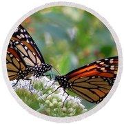 Butterfly Garden - Monarchs 17 Round Beach Towel