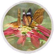 Butterfly Gathering Round Beach Towel
