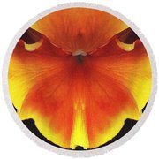 Butterfly Impression Round Beach Towel