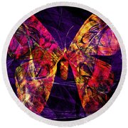 Butterfly In Abstract Dsc2977 Square Round Beach Towel