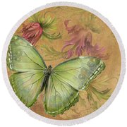 Butterfly Inspirations-a Round Beach Towel