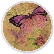 Butterfly Inspirations-d Round Beach Towel