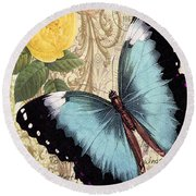 Butterfly Kisses-a Round Beach Towel