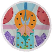 Butterfly Kisses And Ladybug Hugs Round Beach Towel