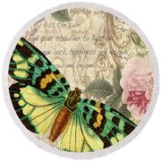 Butterfly Kisses-b Round Beach Towel