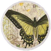 Butterfly Kisses-c Round Beach Towel