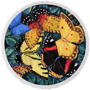 Butterfly Kisses Round Beach Towel