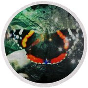 Butterfly Magick Round Beach Towel
