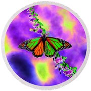Butterfly - Monarch - Photopower 1551 Round Beach Towel
