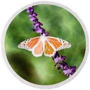 Butterfly - Monarch - Photopower 319 Round Beach Towel