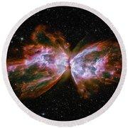 Butterfly Nebula Ngc6302 Round Beach Towel