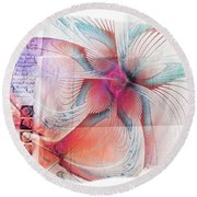 Butterfly Note Round Beach Towel