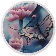 Butterfly Series 6 Round Beach Towel