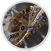 Butterfly Spot Color 1 Round Beach Towel