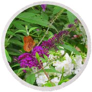 Butterfly Surprise Round Beach Towel