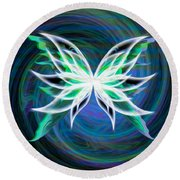 Butterfly Swirl Round Beach Towel
