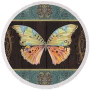 Butterfly Tapsetry-jp2197 Round Beach Towel