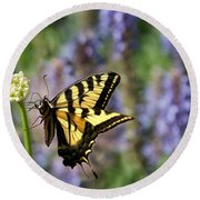 Butterfly Thoughts Round Beach Towel