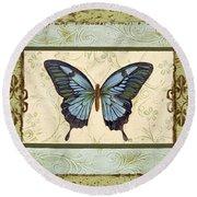 Butterfly Trio-3 Round Beach Towel