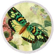 Butterfly Visions-a Round Beach Towel